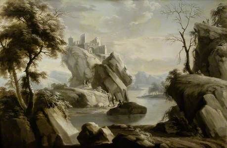 Landscape with River and Building*