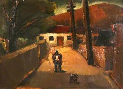 Miner with Dog