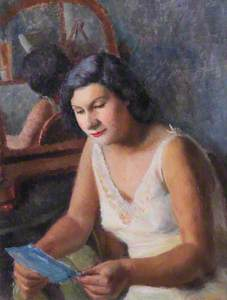 Girl Reading Letter