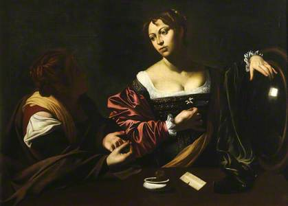 Martha Reproving Mary Magdalen for her Vanity (copy after Caravaggio)