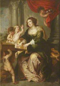 St Cecilia? with an Audience of Putti
