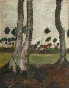 Landscape with Wind-blown Trees