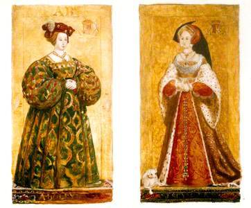 Preparatory Sketches of Anne Boleyn and Jane Seymour
