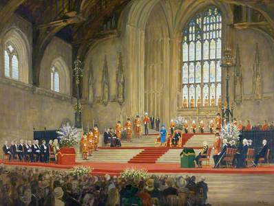 Her Majesty the Queen Addressing Both Houses of Parliament on the Occasion of Her Golden Jubilee, We