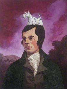 Robert Burns with Scottie Dog