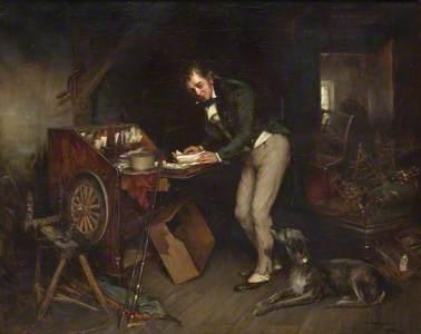 Sir Walter Scott Finding the Manuscript of Waverley in an Attic