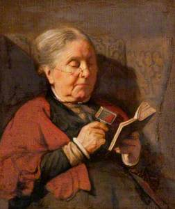 An Old Woman Reading