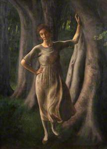 The Beech Wood (Figure in a Beech Wood)