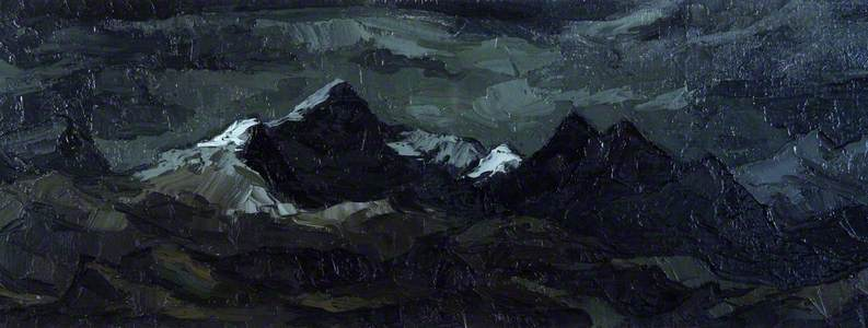 View of Snowdon in Winter