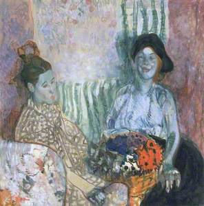 Loveday and Ann: Two Women with a Basket of Flowers