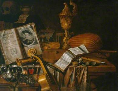Still Life with a Volume of Wither's 'Emblemes'