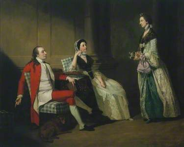 George Thompson, his Wife and (?) his Sister-in-Law