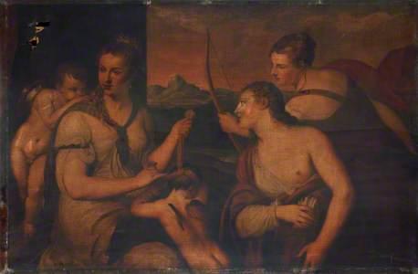 Venus Binding Cupid (after Titian)