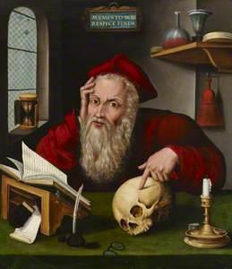 Saint Jerome in his Study (copy after Joos van Cleve and Marinus van Reymerswaele)