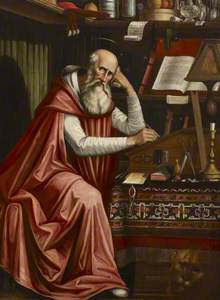 Saint Jerome in his Study (copy after Domenico Ghirlandaio)
