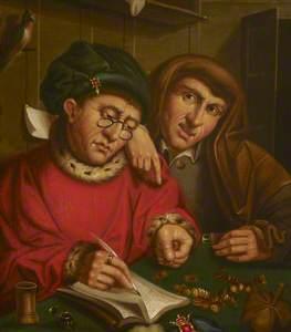 The Money Changers (copy after Marinus van Reymerswaele)