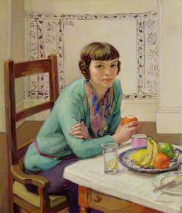 Girl with Fruit