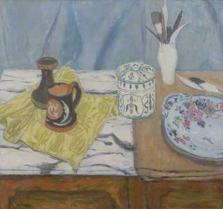 Still Life with Pots and Feathers