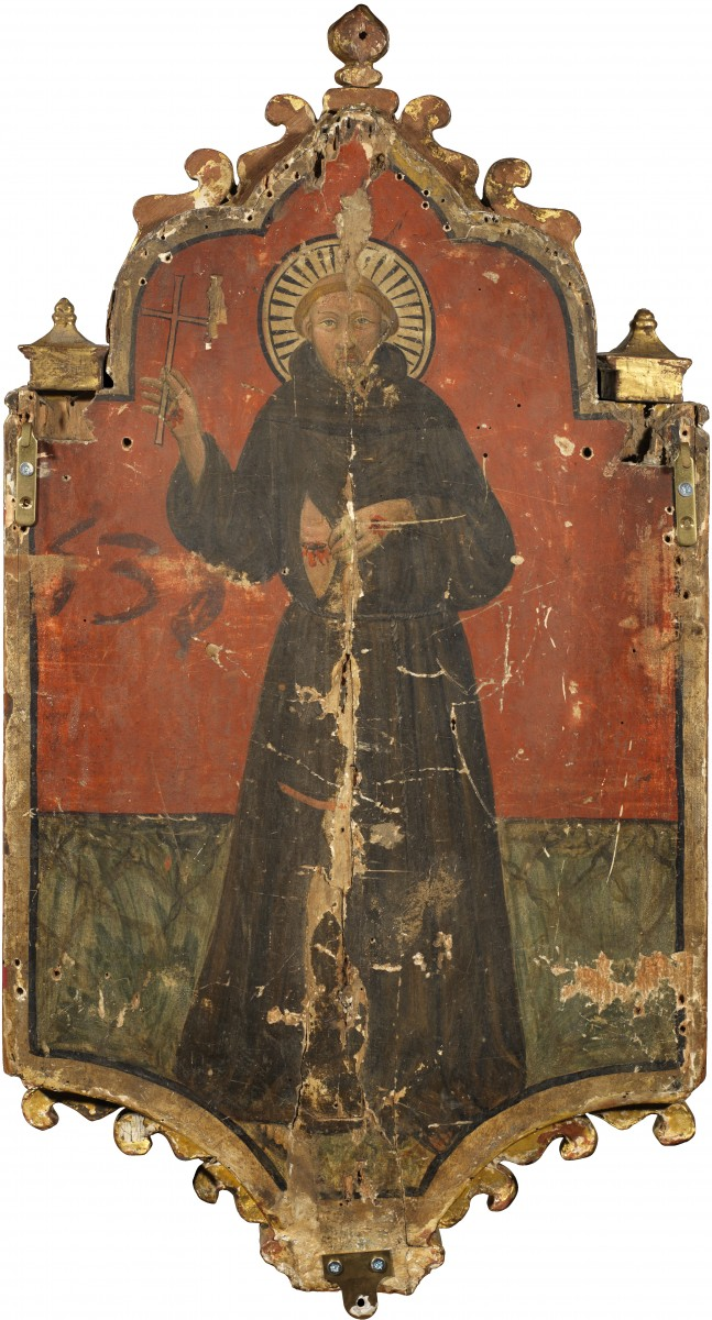 Tabernacle with the Madonna of Humility, the Annunciation and Saint Francis