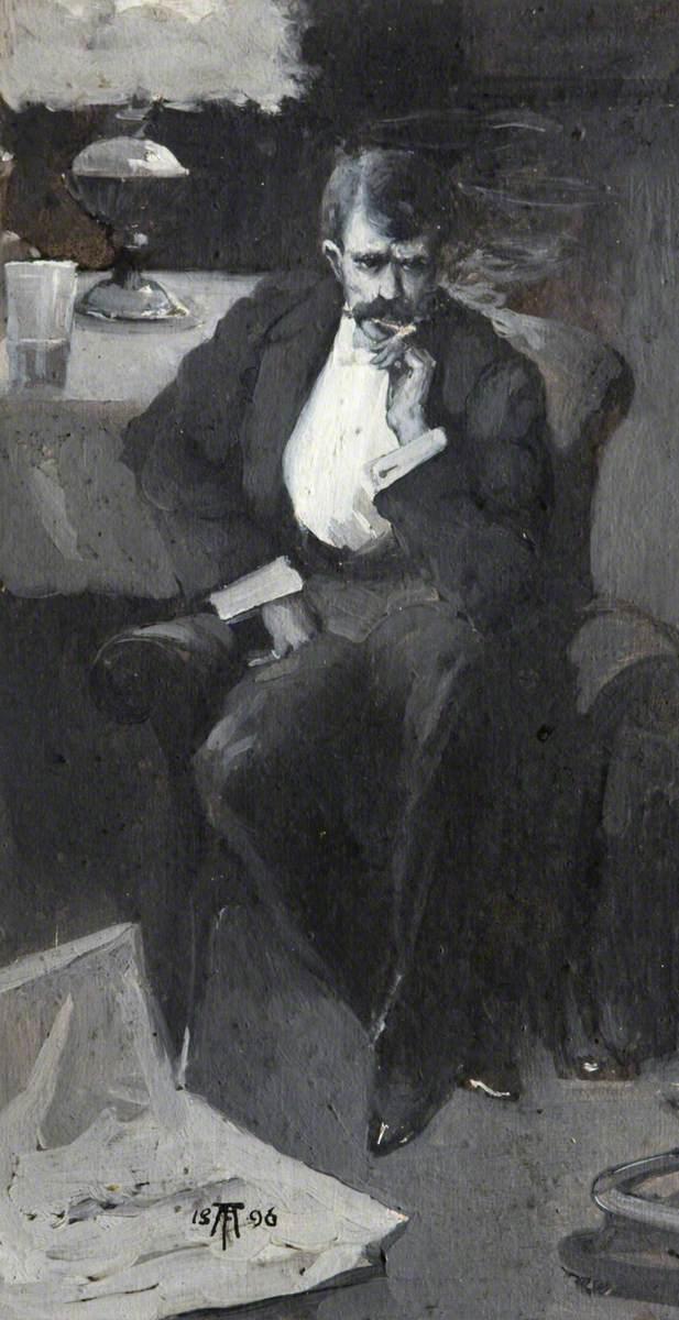 Man Smoking a Cigar