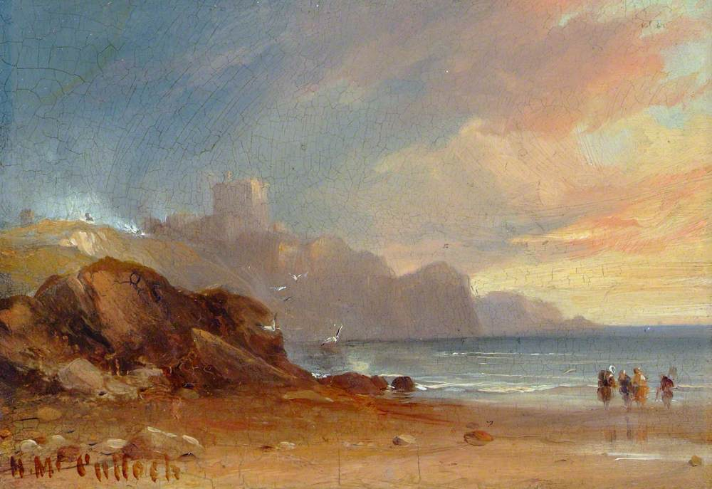 Seascape with a Castle and Figures