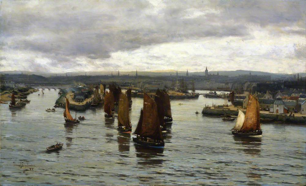 The Herring Fleet Leaving the Dee, Aberdeen