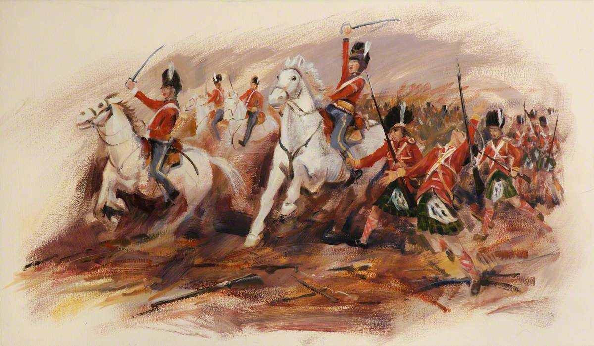 Scots Greys and Gordons at Waterloo