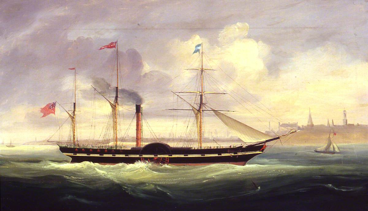 The 'Duke Of Richmond' Leaving Aberdeen for the North