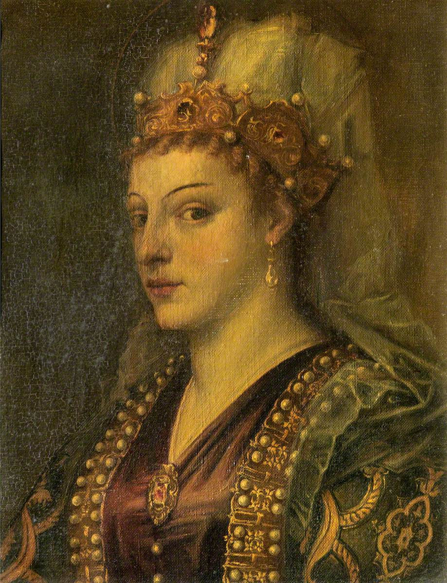 Caterina Cornaro as Saint Catherine of Alexandria