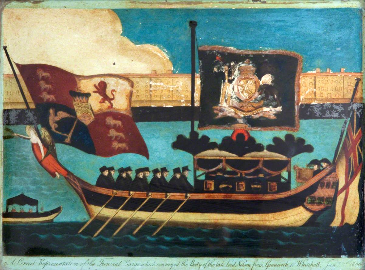 The Funeral Barge of Lord Nelson