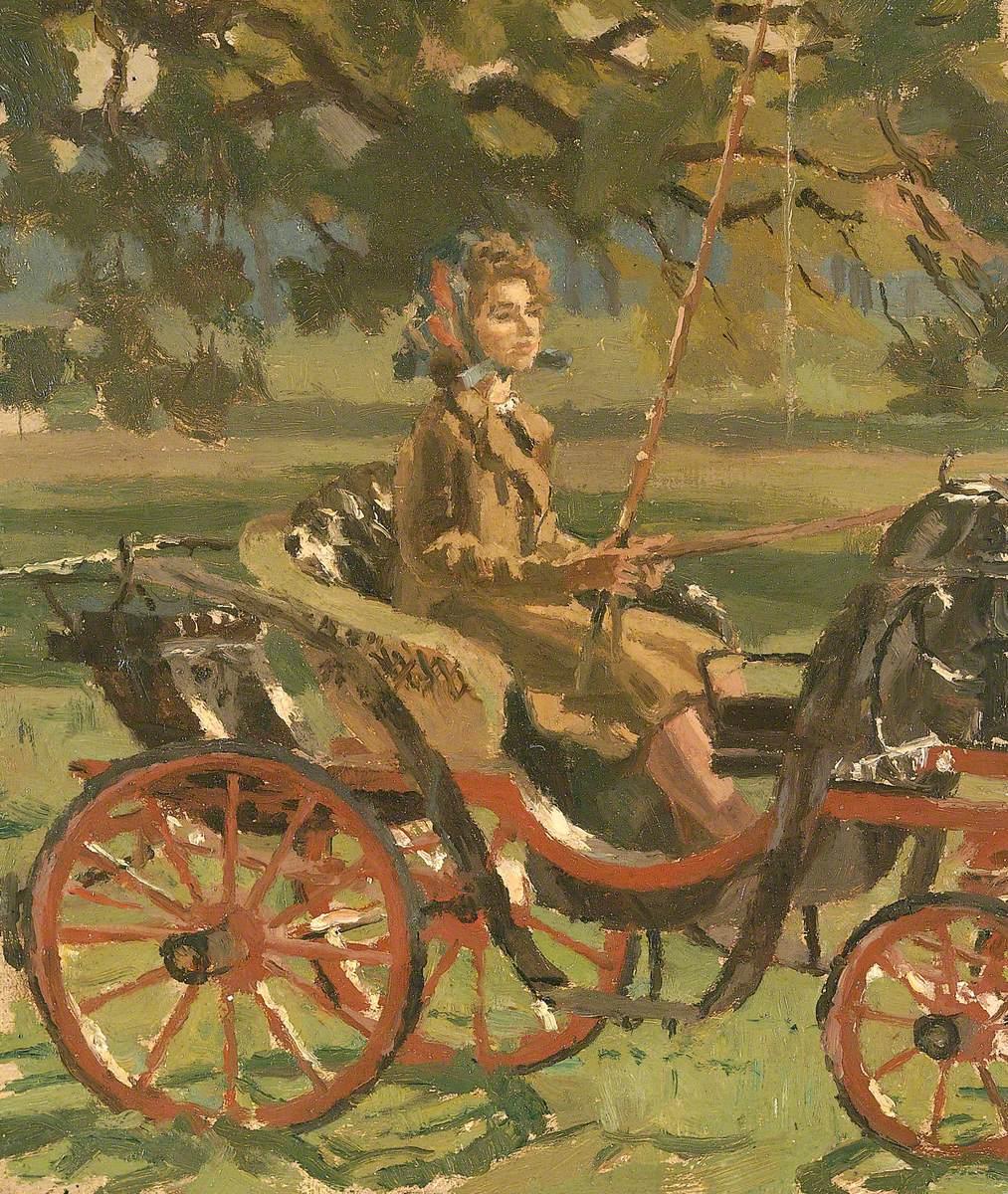 Princess Elizabeth Driving a Phaeton