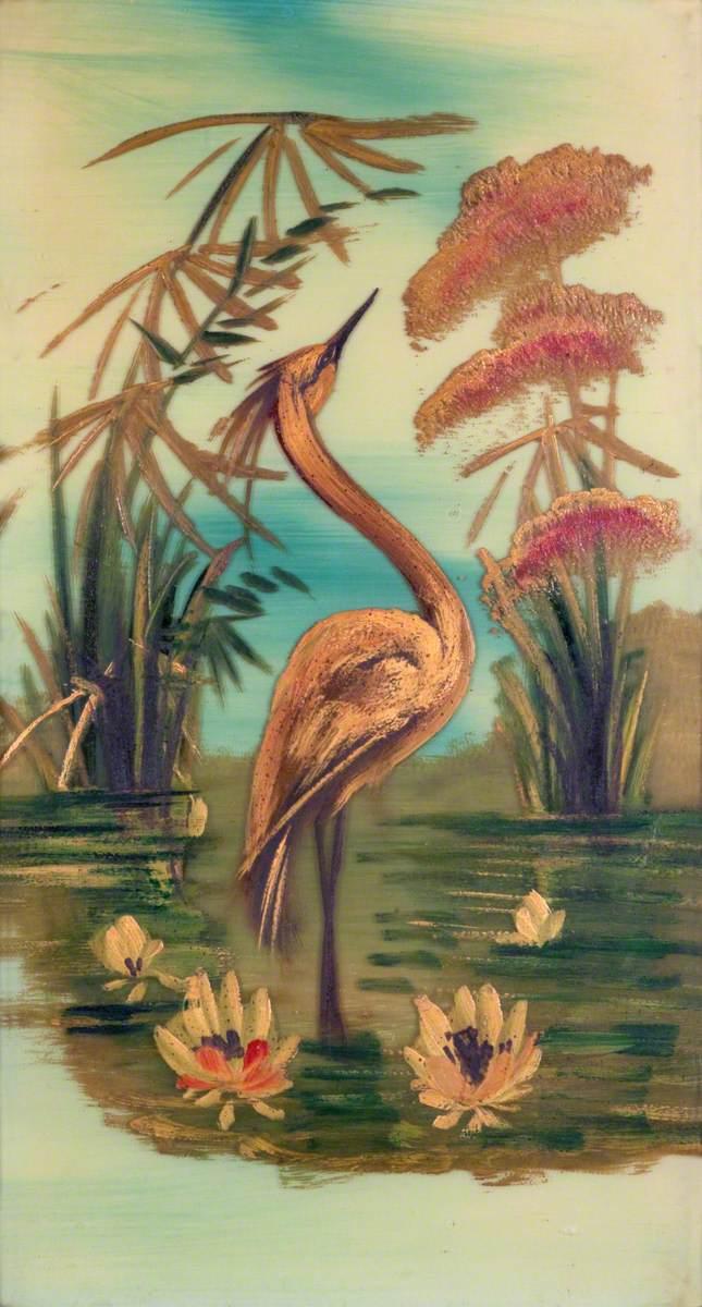 A Heron Standing