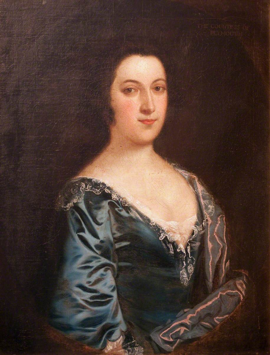 Portrait of a Woman in Blue and White