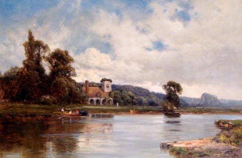 Medmenham Abbey and Ferry on the Thames, Buckinghamshire