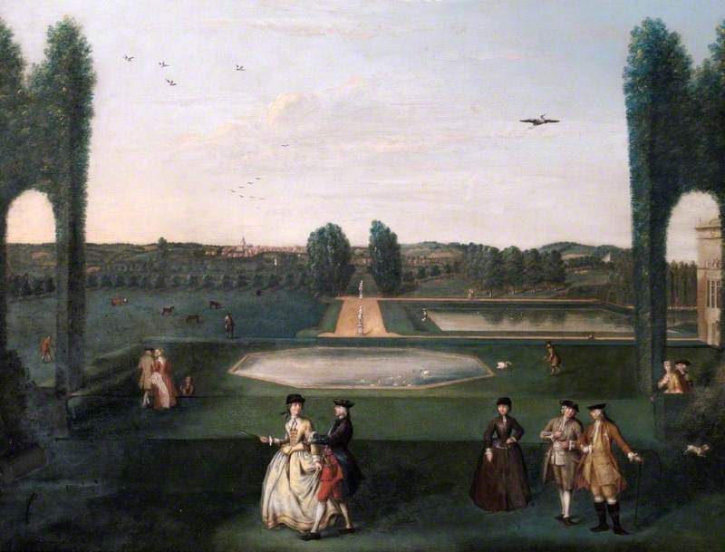 The Octagon Pond, Hartwell House, Buckinghamshire