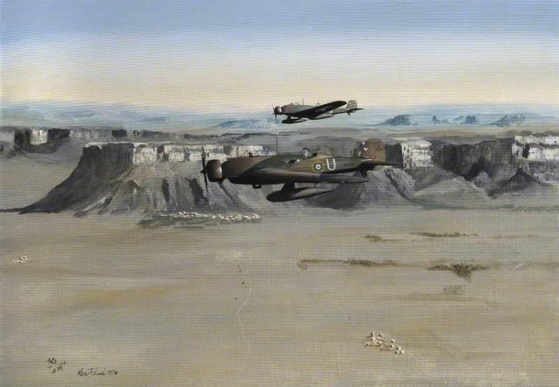 Vickers Wellesleys of No. 14 Squadron over Transjordan, 1939