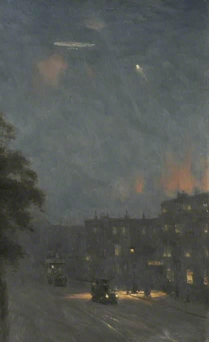 The Zeppelin Raid over London, 8 September 1915