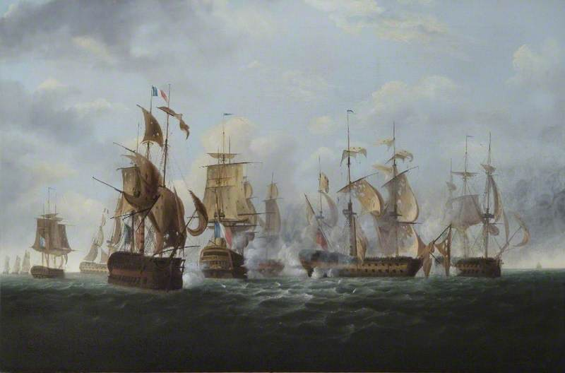 'HMS Alexander' Commanded by Captain Rodney Bligh, Shortly before Striking Her Colours to the French Squadron, 6 November 1794