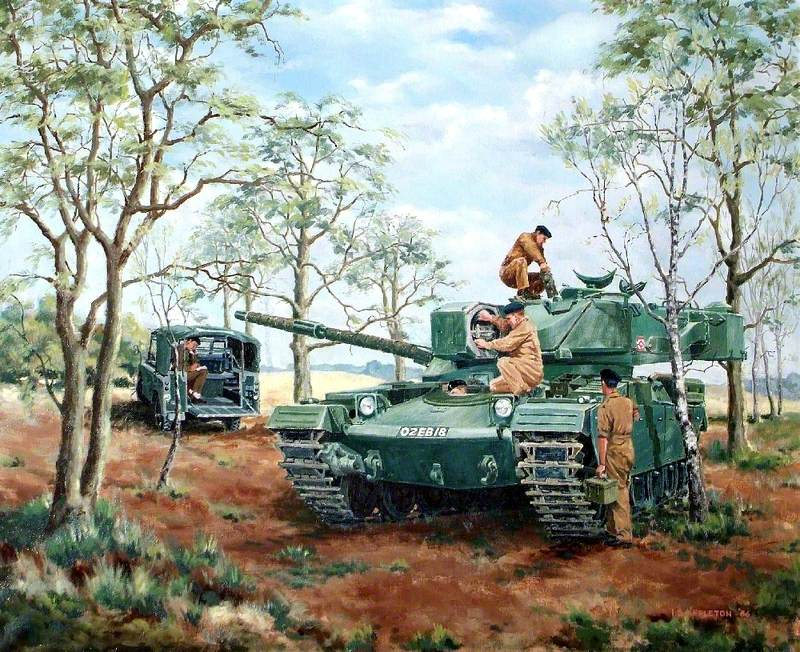 Chieftain Tank in a Wooded Landscape