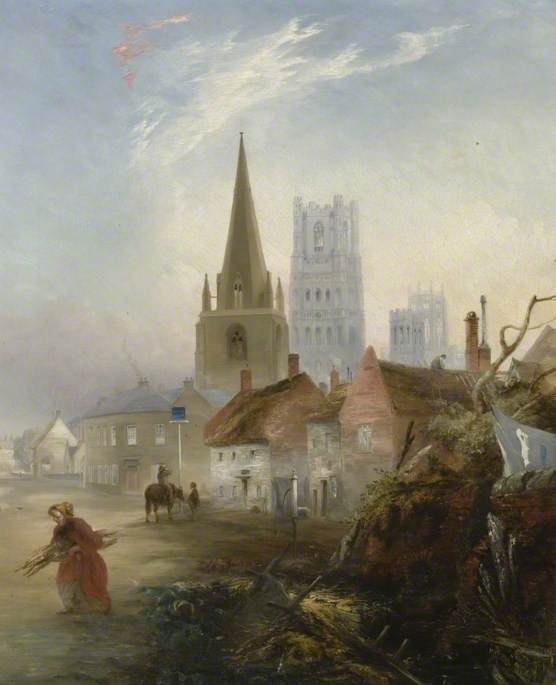 A View of Ely, Cambridgeshire, from St Mary's Street