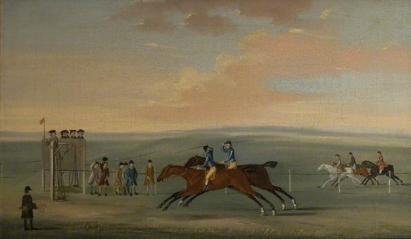 'Brisk' and 'Fox' Running a Match over the Round Course at Newmarket