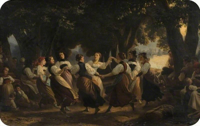 Dutch Girls Dancing