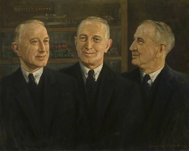 Triple Portrait of Mr Bassett-Lowke (1877–1953)