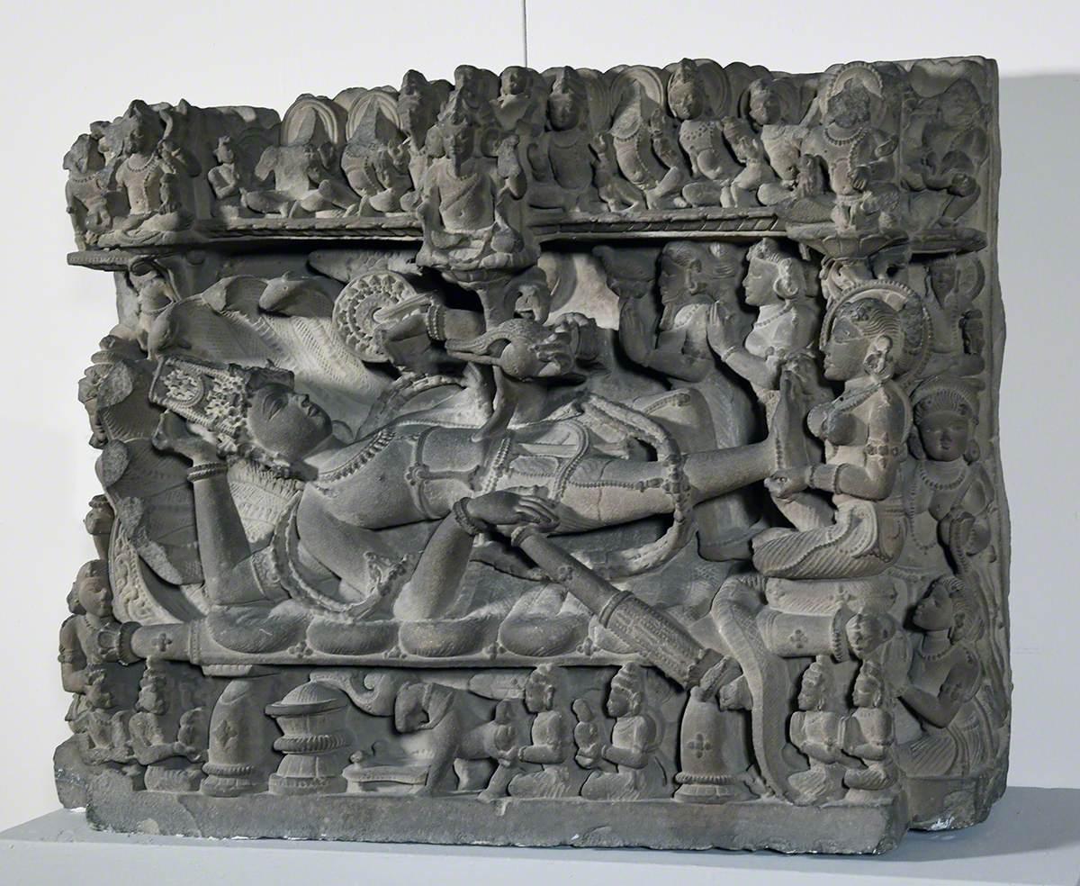 Brahma, Vishnu and Lakshmi