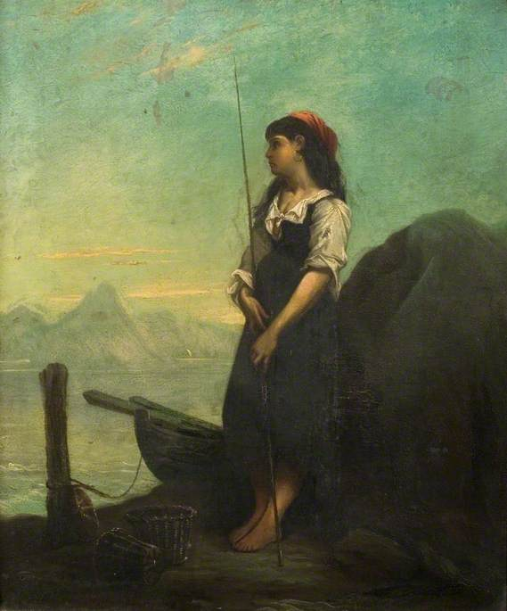 Italian Fisher Girl with a Rod