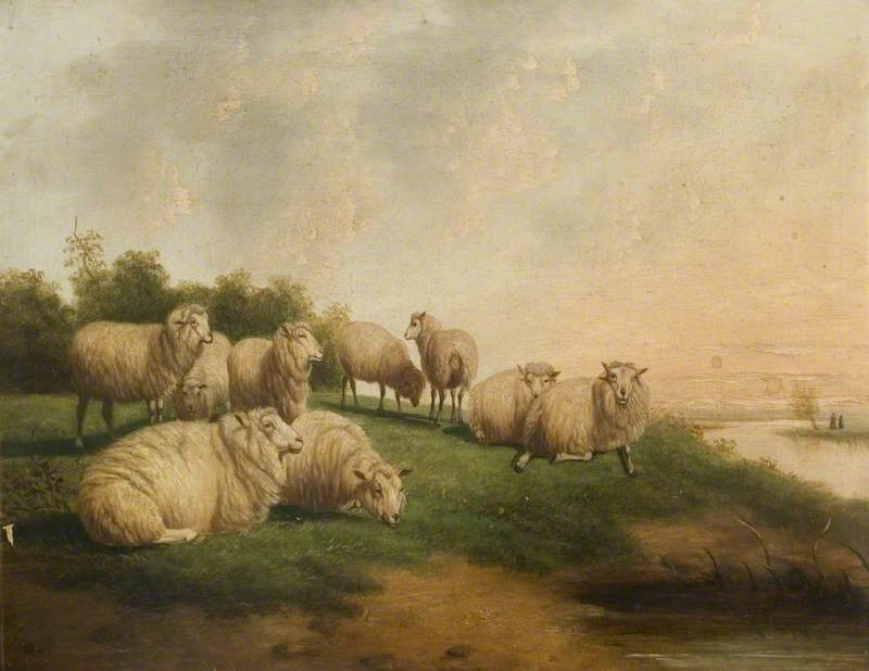 Landscape with a Flock of Sheep Resting