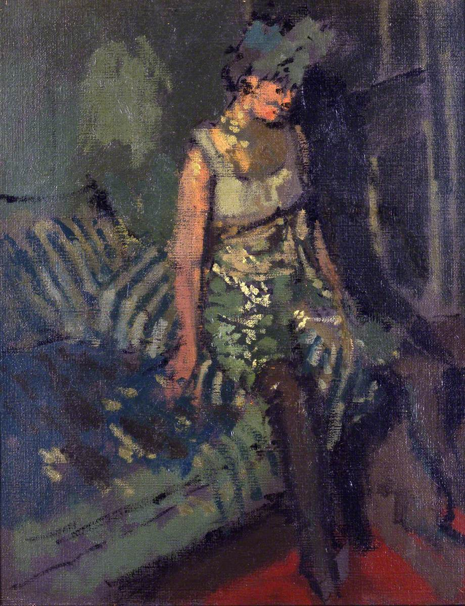 A Dancer in a Green Dress, Marie
