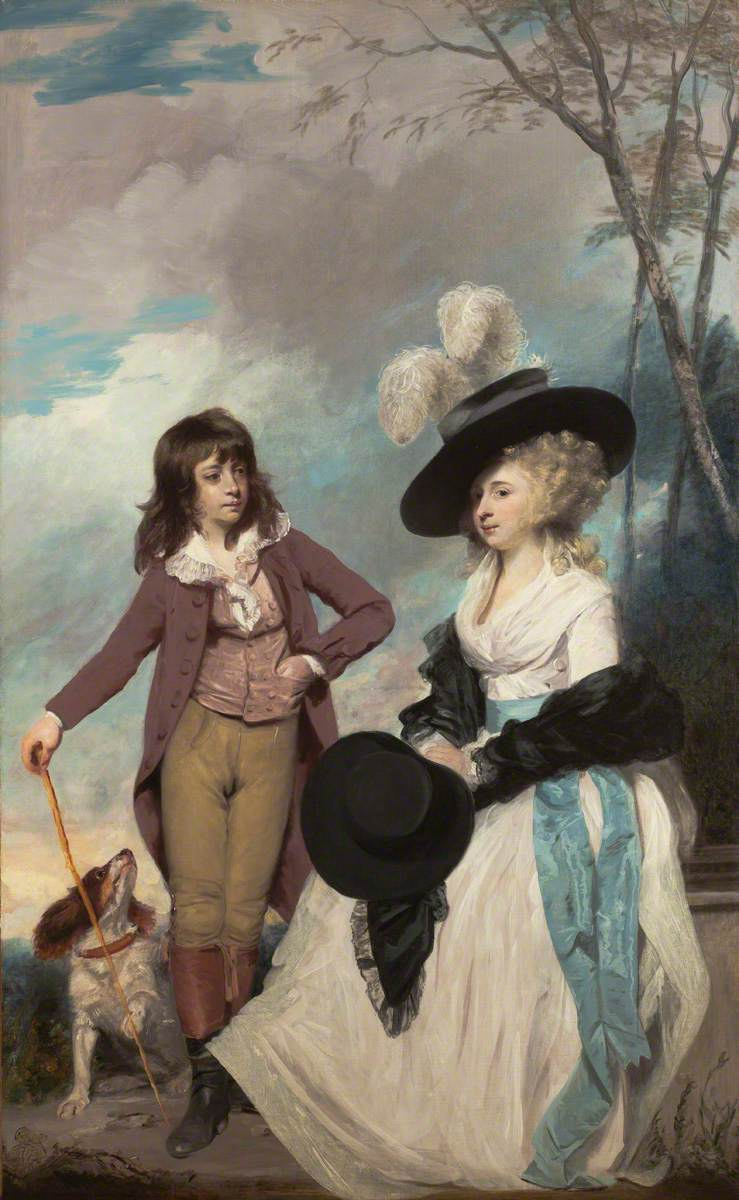 Maria Marow Gideon and Her Brother, William