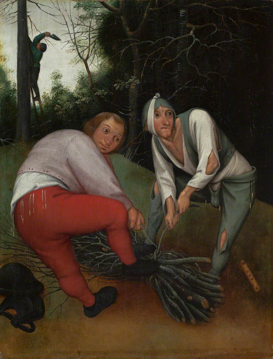 Two Peasants Binding Faggots