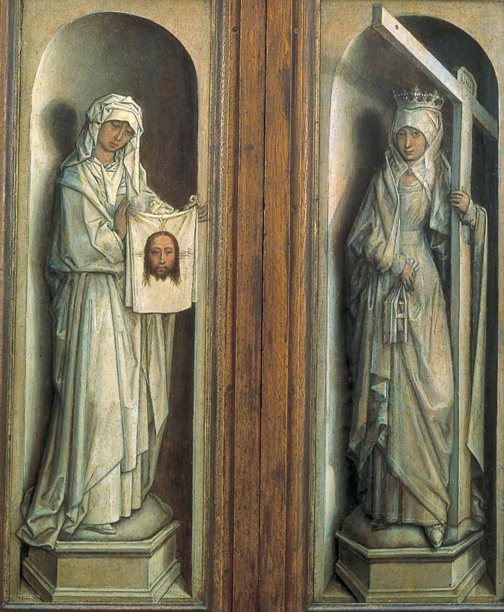 Saint Veronica (left wing), Saint Helena (right wing)
